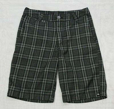 Quiksilver Youth Boys Black Gray Flat Front Casual Shorts Size 26