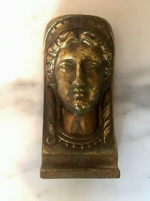 Antique French Gilt Caryatid Bust Furniture Mount solid bronze ormolu Grand Tour