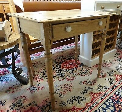 Vintage / Antique Small Waxed Pine Hall/ Side Table or Desk
