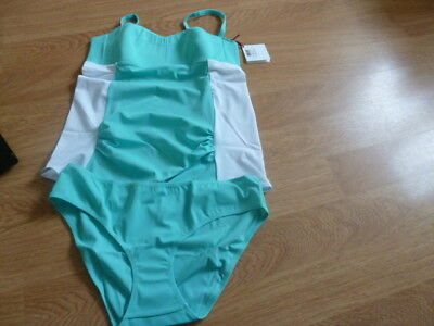 Amoralia Size L Mint And White Maternity Tankini And Briefs. New With Label.
