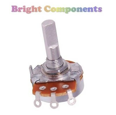 24mm Variable Resistor / Potentiometer - All Values - 20mm Shaft -1st CLASS POST