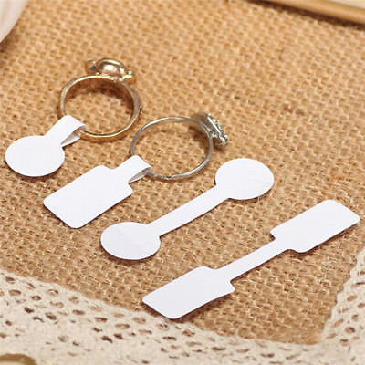 100x Blank Adhesive Sticker Ring Necklace Jewelry Display Price Label Tags Ba QY