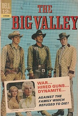 1966 Issue # 2 THE BIG VALLEY LEE MAJORS Western Silver Age Dell Comic Book