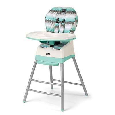 Chicco Stack 3-in-1 Multi-Stage Adjustable Highchair, Modmint   Open Box