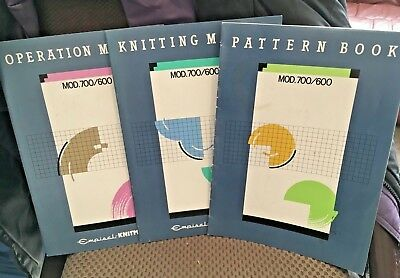 Knitmaster Manuals Set - For Sk 600/700 Knit M/c - Great Condition
