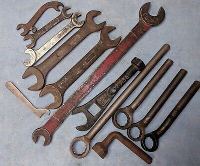 Vintage LOT OF 13 Farmall International Harvester Case Tools Wrenches Tractors