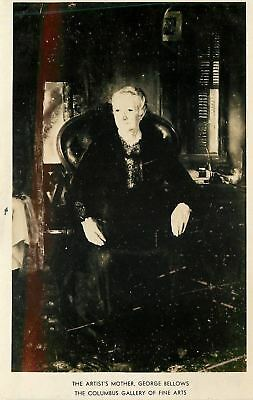 Columbus Ohio~RPPC~Gallery of Fine Arts~Artist George Bellows' Mother~1940s pc