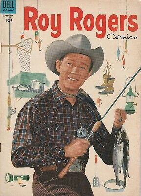 1954 No. 81 Roy Rogers Western Cowboy Dell 10 Ct Comic Book Golden Age 52 pages