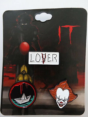 It Movie Pennywise Lapel 3 Pin Set