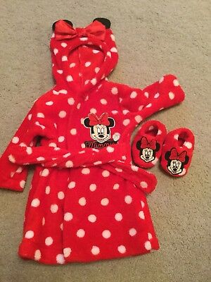Baby girl dressing gown 0-3 Months with Matching Slippers