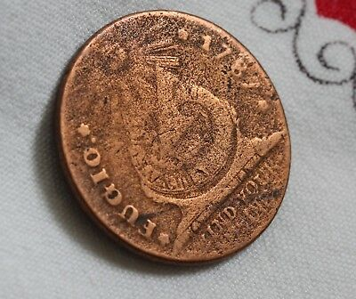 1787 Fugio Cent Coin Colonial Copper? Must See !!   ( #19)