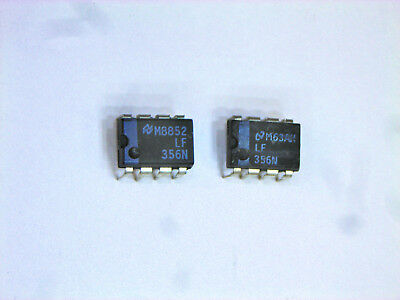 10 pcs LF356N  LF356P  Texas  2xOp-Amp JFET -18V  LN  12V//us   DIP8  NEW  #BP
