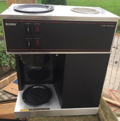 Bunn Commercial Coffee Maker VPR Black Stainless Series  W/ Pot CLEAN