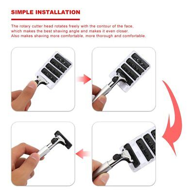Men Two-layer Blade Lubrication Shaver Built-in Super Smooth Lubricating Strip B