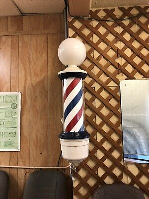 Antique Barber Shop Revolving Light Pole ** Works **