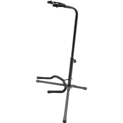 On-Stage Stands Black Tripod Guitar Stand, Single Stand