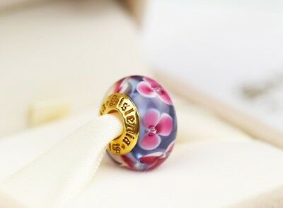 Authentic Sislenia 310310 Murano Glass 24K Gold plated Charm New Great Gift