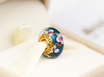 Authentic Sislenia 310309 Murano Glass 24K Gold plated Charm New Great Gift