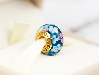 Authentic Sislenia 310307 Murano Glass 24K Gold plated Charm New Great Gift