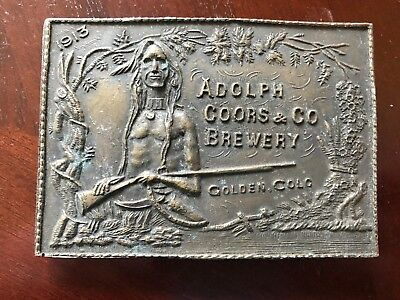Vintage Adolph Coors & Co Brewery Belt Buckle