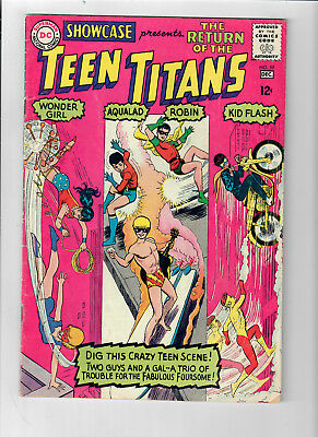 SHOWCASE #59 - Grade 5.0 - Third appearance of the TEEN TITANS!