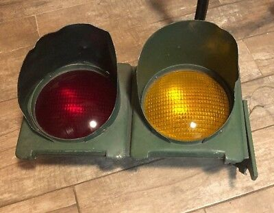 Crouse Hinds Traffic Light Vintage Red Yellow Man Cave