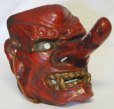 Noh Vintage Japanese Mask Devil Demon