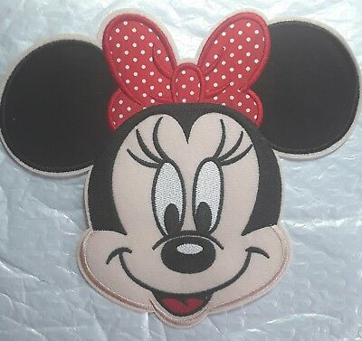 BIG MINNIE mouse LOVELY  DISNEY  PARCHE TERMOADHESIVO PATCHES FOR CLOTHES FOTOS