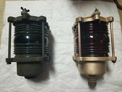 Brass/bronze  Russel & Stoll Co. NY lights, red and green