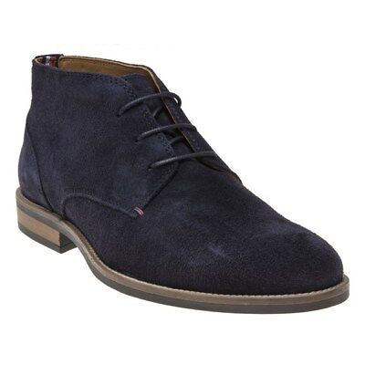 fbaddfc36bb854 NEW MENS TOMMY Hilfiger Navy Blue Essential Suede Boots Chelsea Lace ...