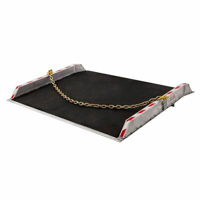 Aluminum Dock Board with Curbs and Grit Surface - 12,000 lb. Weight Capacity