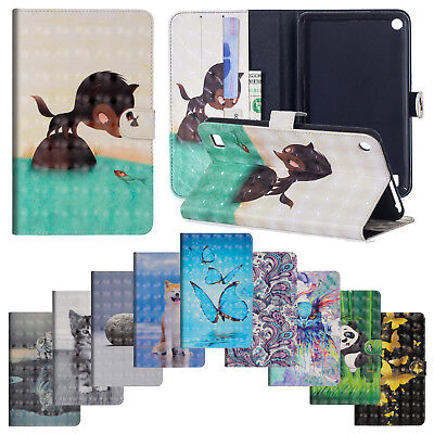 For Amazon Kindle Fire 7 2015&2017 Leather Flip Wallet Stand Smart Case Cover