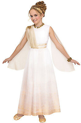 Brand New Grecian Golden Goddess Ancient Greek Toga Child Costume