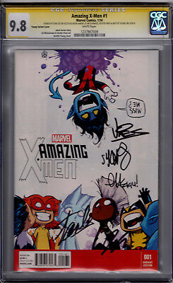 Amazing X-Men #1 Young Variant! CGC SS 9.8! Signed by Stan Lee, Young & More!