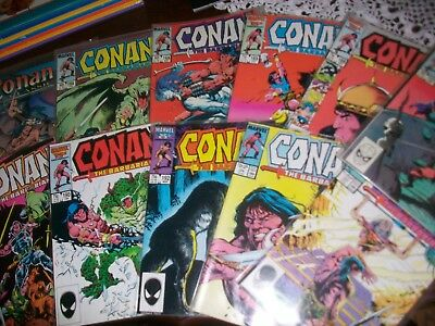 Lot of 11 CONAN THE BARBARIAN VINTAGE COMIC BOOKS