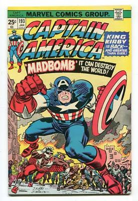 Captain America #193 - 1St New Jack Kirby Issue - Great Art  - High Grade - 1976