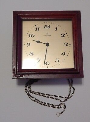 Vintage German Junghans Wall Clock with Chime for Parts or Repair