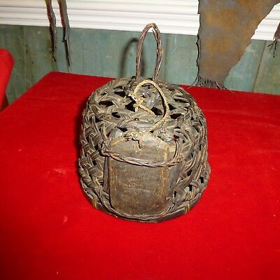 """Rare 11"""" Officer's Exotic Bird Cage From Whale Ship Essex / Nantucket -Exc Con"""