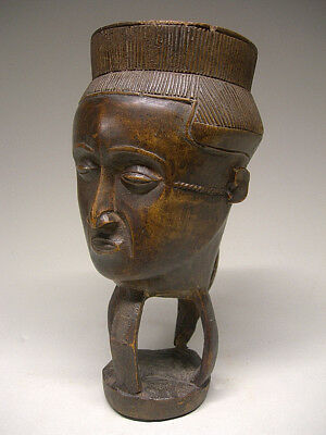 An Older beautiful and delicate KUBA CUP From the DRC Congo ~ AS IS