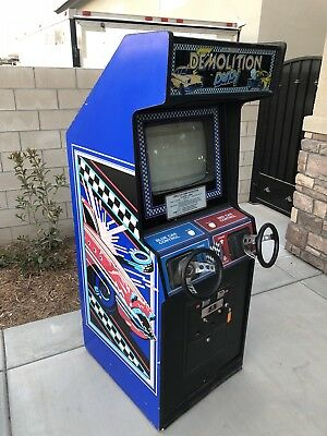 Bally Midway Demolition Derby arcade game, Rare With NR
