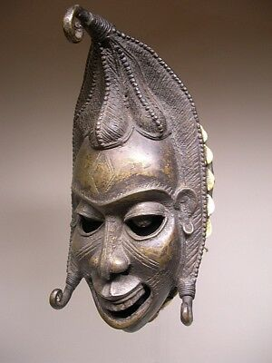 Older BAMUM BRONZE MASK from CAMEROON ~ RARE QUALITY !!!