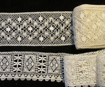 Lot #6 - Antique - Vintage - Ivory Lace Trims - 2 Similar Types