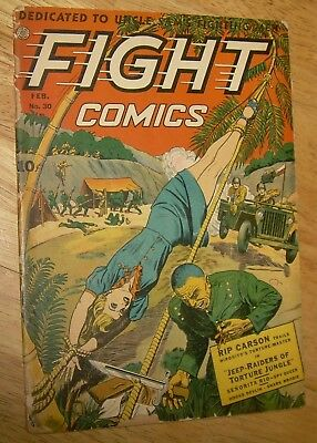 FIGHT Comics #30 scarce Fiction House classic WWII GGA bondage cover rangers