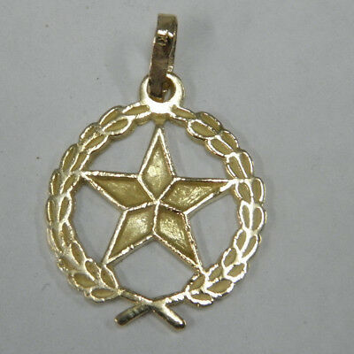 18ct/750 YELLOW SOLID GOLD STAR CHARM PENDANT rrp $349.00