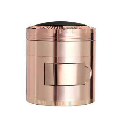 4 Piece Tobacco Herb Herbal Grinder Spice Smoke Crusher Hand Alloy Rose Gold