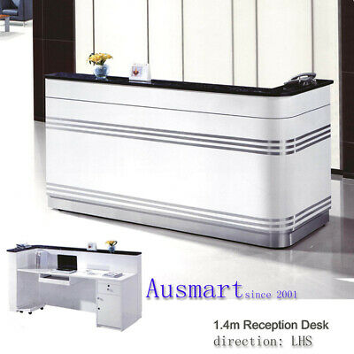 1.4m Modern Reception Desk | Ausmart | free postage to Melb. metro