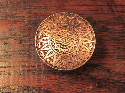 Antique Victorian Ornate Brass / Bronze Door Knob Russell & Irwin Mfg Co