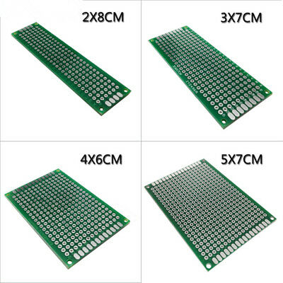 4pcs 5x7 4x6 3x7 2x8 cm double sided Copper prototype pcb Universal Board