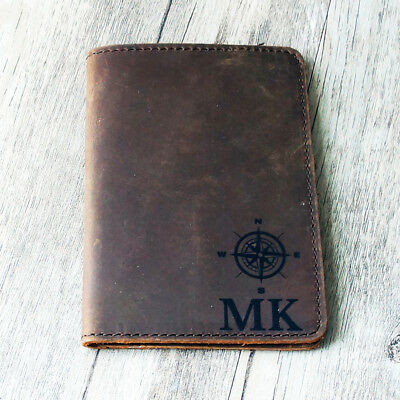 Personalised Genuine Leather Passport Cover ; Custom Printed Passport Holder v