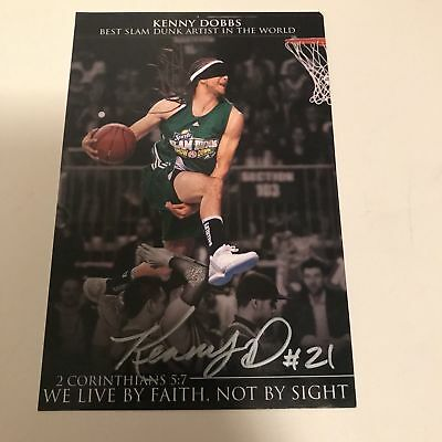 Kenny Dobbs The Dunk Inventor Signed Authentic Picture